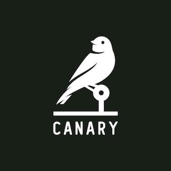 Logotipo de silhueta canário