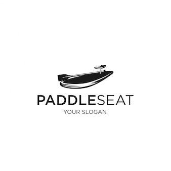 Logotipo de silhueta de assento de remo