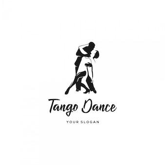 Logotipo de silhueta de dança tango