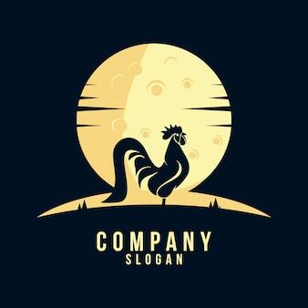 Logotipo de silhueta de galo