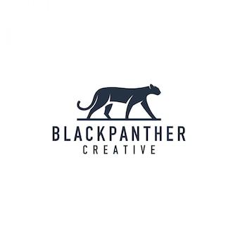 Logotipo de silhueta de pantera