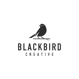 Logotipo de silhueta de pássaro