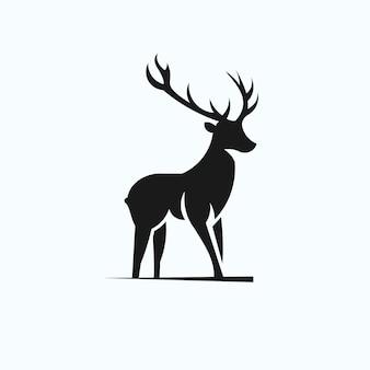 Logotipo de silhueta dos cervos