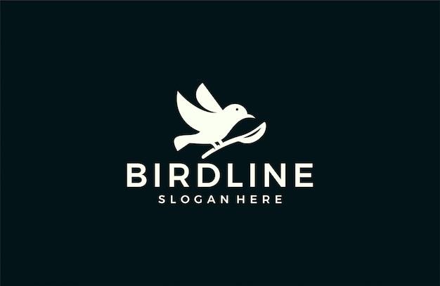 Logotipo de silhueta moderna ave