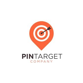 Logotipo de símbolo de sinal abstrato pin