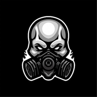 Logotipo de skull mask esport
