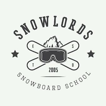 Logotipo de snowboard, crachá
