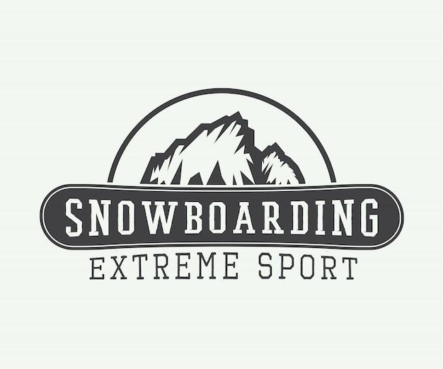 Logotipo de snowboard, distintivo, emblema