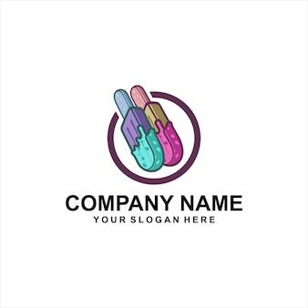 Logotipo de sorvete