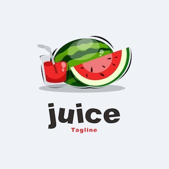 Logotipo de suco de melancia premium