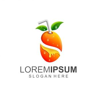 Logotipo de suco fresco