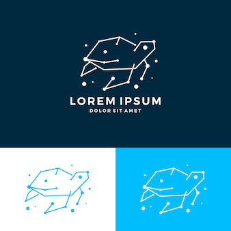 Logotipo de tecnologia de conexão de espaço de tartaruga