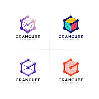 Logotipo de tecnologia de construção de empresa g