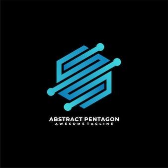 Logotipo de tecnologia hexagonal