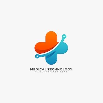 Logotipo de tecnologia médica.