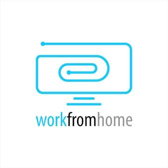 Logotipo de tela digital de arte de linha simples
