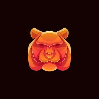 Logotipo de tigre de cor moderna