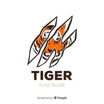 Logotipo de tigre de garras
