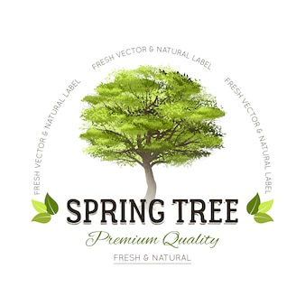 Logotipo de tipografia de árvore