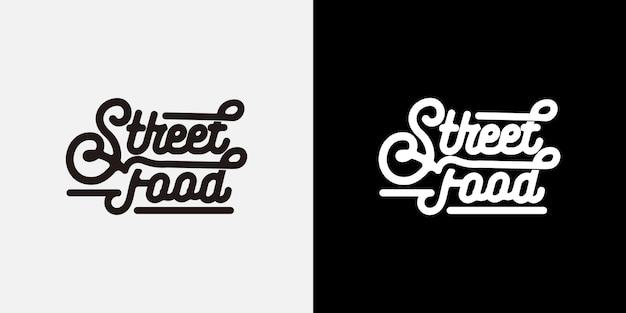 Logotipo de tipografia de comida de rua