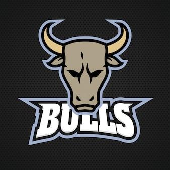 Logotipo de touro profissional moderno para uma equipe de esportes