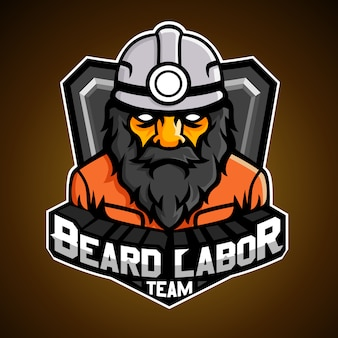 Logotipo de trabalho de barba