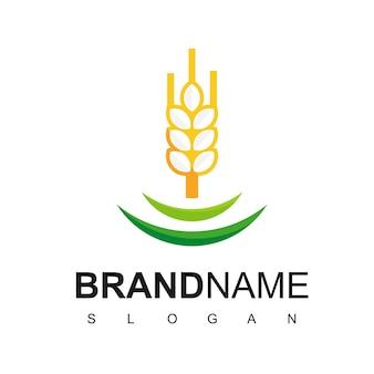 Logotipo de trigo para pão ou produto orgânico
