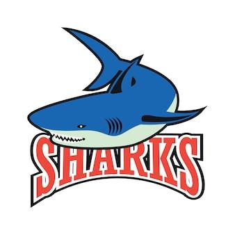 Logotipo de tubarões azuis