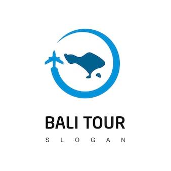 Logotipo de turismo e viagens em bali