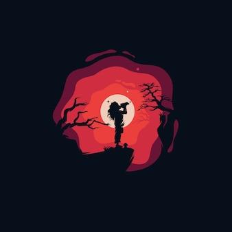Logotipo de uma linda criança alcançando os sonhos