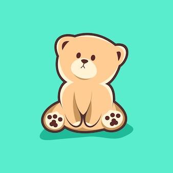Logotipo de urso fofo