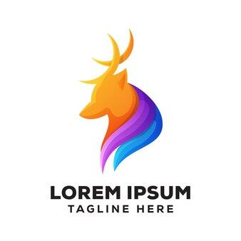 Logotipo de veado colorido