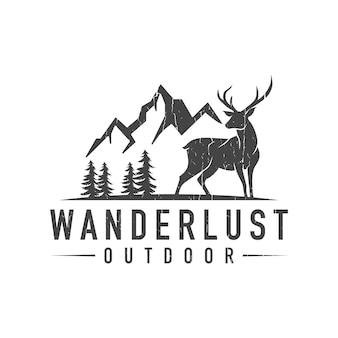 Logotipo de veado de montanha