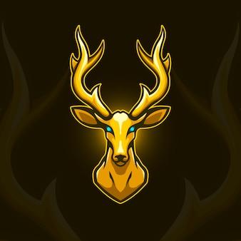 Logotipo de veado dourado