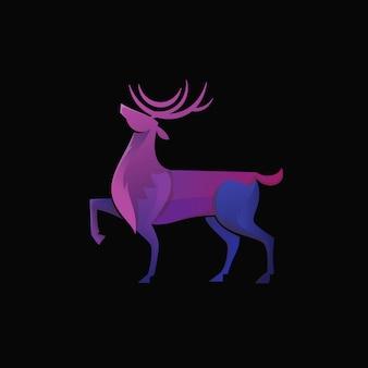 Logotipo de veado gradiente moderno