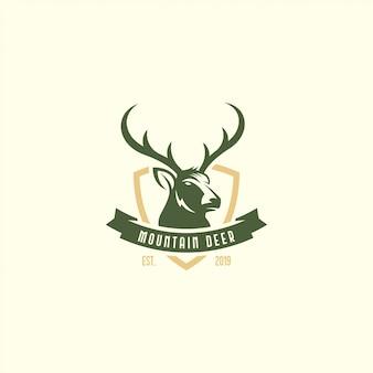 Logotipo de veado vintage
