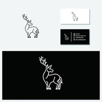 Logotipo de veados de vetor minimalista
