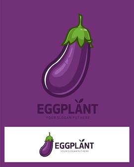 Logotipo de vegetais de berinjela