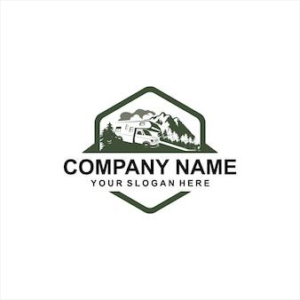 Logotipo de veículo recreacional de montanha
