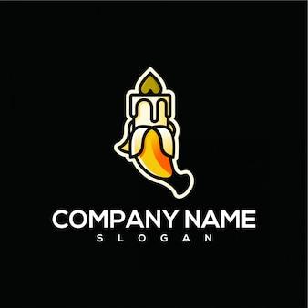 Logotipo de vela de banana