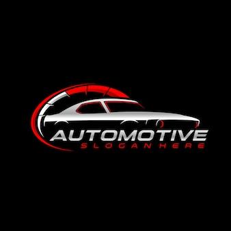 Logotipo de velocidade do carro clássico