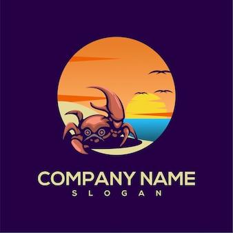 Logotipo de verão caranguejo