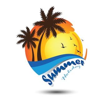 Logotipo de verão
