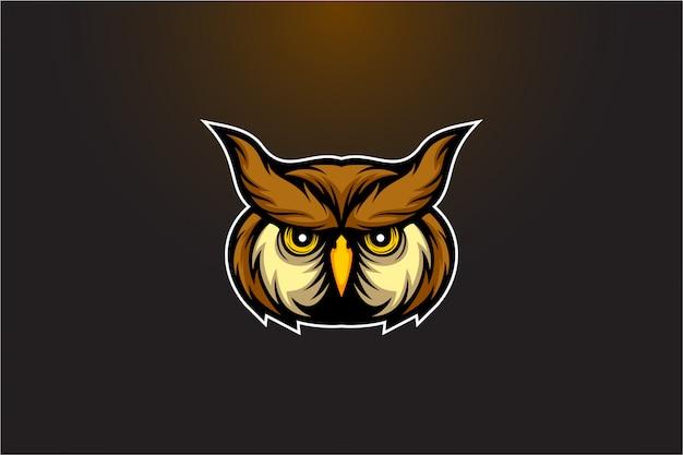 Logotipo de vetor cabeça de coruja