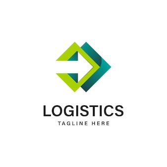 Logotipo de vetor da empresa de logística ícone de seta ícone de envio