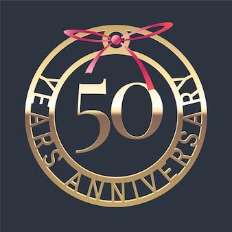 Logotipo de vetor de aniversário de 50 anos