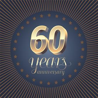Logotipo de vetor de aniversário de 60 anos