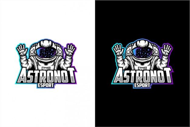 Logotipo de vetor de astronauta
