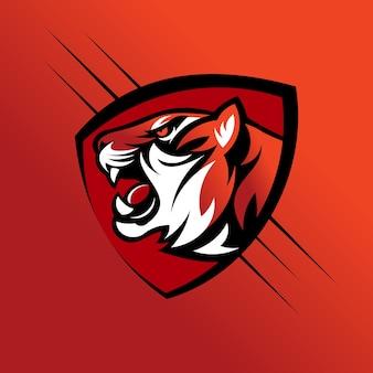 Logotipo de vetor de cabeça de tigre