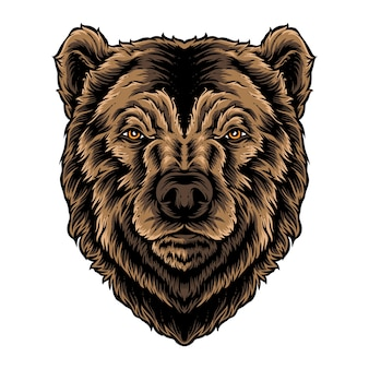 Logotipo de vetor de cabeça de urso